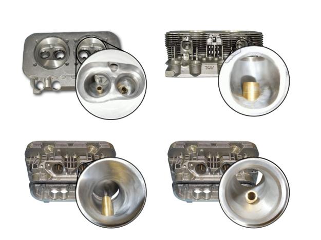Zylinderkopf Typ4 Brennraum- und Kanalbearbeitung