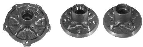 Radnaben für den Fünflochkreis mit 205 mm sowie den Fünfloch- und Vierlochkreis mit 130 mm Durchmesser