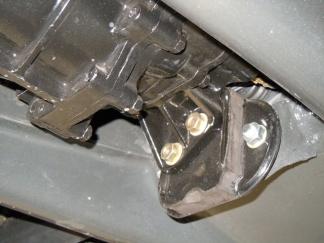 Getriebelager (härtere Version) montiert getriebeseitig