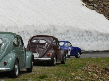 1) Raufgebrezelt: Gaviapass in den italienischen Alpen