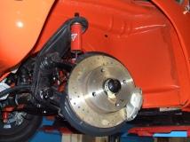 Kugelgelenkvorderachse am Karmann Ghia