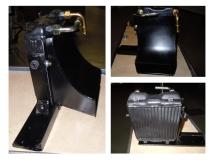 Ölkühler mit Schacht zur Montage unterhalb des Kofferraumbodens