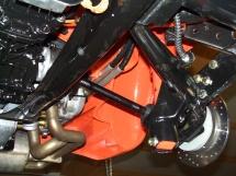 Schräglenker-Hinterachse am Karmann